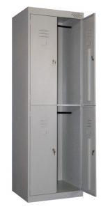 Металлический шкаф для одежды ШРК-24 купить недорого