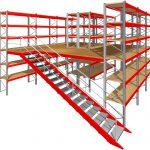 Мезонинные стеллажи для склада купить недорого